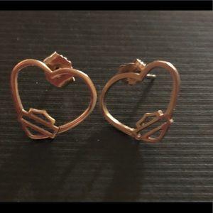 10kt Harly Davidson earrings